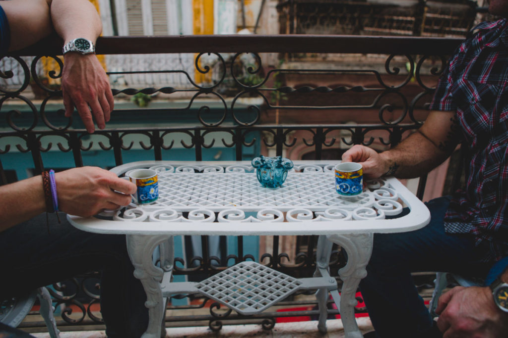 Top 5 Things to Do in Havana – Sharing Cuban Coffee Espresso on the Balcony